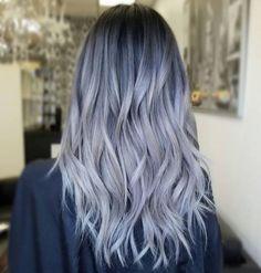 Balayage graue haare