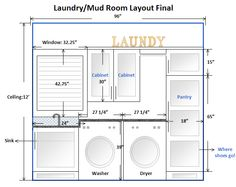 Laundry Room Layout Ideas – like the tall pantry cupboard - Modern Laundry Room Layouts, Laundry Room Remodel, Laundry Room Organization, Laundry Rooms, Small Laundry, Basement Laundry, Laundry Baskets, Organization Ideas, Pantry Cupboard