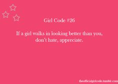 Girl Code Rules Tumblr   The Official Girl Code                                                                                                                                                     More