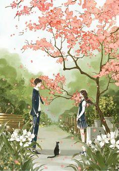 61 Ideas drawing of love for him couple life Couple Amour Anime, Couple Manga, Anime Love Couple, Couple Cartoon, Cute Anime Couples, Art Anime Fille, Anime Art Girl, Manga Art, Bts Art