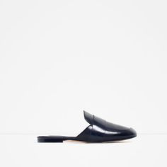 ZARA - SALE - LEATHER SLIDES WITH STRAP