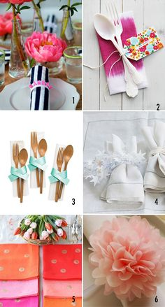 6 ways to accessorize your napkins