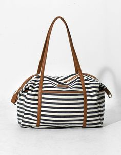 Striped weekend bag - New - Bershka Bag Accessories ab25f8934fefb