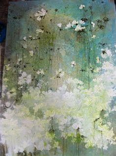 Plant Painting, Oil Painting Flowers, Abstract Flowers, Watercolor Paintings, Laurence Amelie, Shabby Chic Art, Abstract Painters, Large Art, Beautiful Paintings