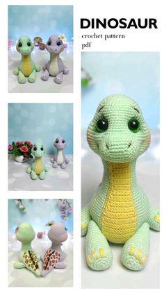 Crochet Elephant, Crochet Bunny, Cute Crochet, Crochet For Kids, Crochet Animals, Crochet Dinosaur Patterns, Crochet Patterns Amigurumi, Crochet Dolls, Crochet Paw Patrol Hat