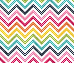 live free : love life chevron 2 LARGE fabric by misstiina on Spoonflower…