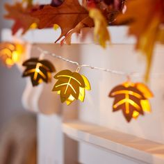 Fall Wooden Leaf String Lights | Lights4fun.com Thanksgiving Celebration, Thanksgiving Decorations, Thanksgiving Meal, Canadian Maple Leaf, Indoor String Lights, Light String, Flameless Candles, White Lead, Autumn Inspiration
