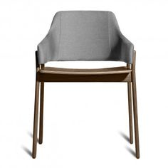 clutch modern dining chair - smoke and pewter 1