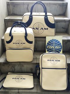 Pan Am Daily Traveler Series Traveling Bag, Backpack,   Shoulder Bag and Clutch Bag パンナム