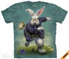 White Rabbit - Biały Królik - The Mountain - Koszulka z Białym Królikiem - Postać z Alicji w krainie czarów - www.veoveo.pl