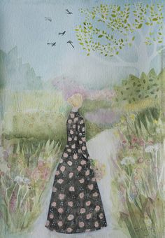 Up The Garden Path, original watercolour painting, framed £550.00