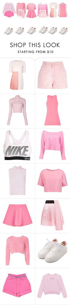 """""""DC-TT(pink version)"""" by yonce4park ❤ liked on Polyvore featuring Au Jour Le Jour, River Island, A.L.C., Elizabeth and James, NIKE, Boohoo, Victoria, Victoria Beckham, Marni, RED Valentino and FAUSTO PUGLISI"""