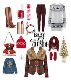 """Walking in a winter wonder outfit"" by esmem-1 on Polyvore featuring J Brand, Tory Burch, Joe Browns, Essie, Charlotte Tilbury, Pink Sugar, Charlotte Russe, Bling Jewelry and BP."