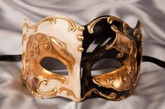 Joker Masquerade Masks for Men with Venetian Scenes - Joker Double
