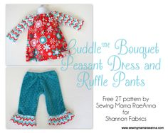 Cuddle Bouquet Peasant Dress and Ruffle Pants; sooo cute !part of collection on fabric.com
