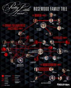Every birth, adoption, and relationship in Pretty Little Liars history has prepared us for this unveiling. Meet the only family tree you need to know about Rosewood.