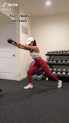 Fitness Workouts, Full Body Hiit Workout, Gym Workout Videos, Fitness Workout For Women, Sport Fitness, At Home Workouts, Fitness Tips, Fitness Motivation, Kettlebell Workouts For Women