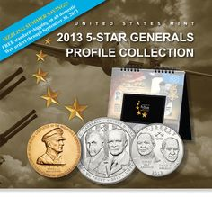 2013 United States Mint 5-Star Generals Profile Collection