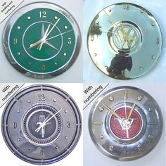 furniture made from truck parts | Buy VW Hubcap Clock by Clicking Here