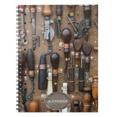 Custom Vintage Woodworking Tools l Retro Kitchen Notebook - Woodworking Gift Idea Woodworking Shop Layout, Woodworking Projects For Kids, Woodworking Projects That Sell, Woodworking Crafts, Woodworking Classes, Woodworking Techniques, Woodworking Magazine, Popular Woodworking, Woodworking Videos