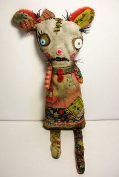 Handmade Art Doll Monster Milly by JunkerJane on Etsy