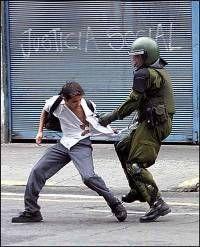 Violencia en Chile Chile, Stencils, Police, Special Forces, Political Freedom, Artist, Book, Chili Powder, Chilis