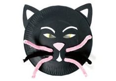 Paper plate cat mask