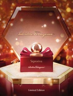 Salvatore Ferragamo lancia la nuova limited edition Signorina in Rosso Chanel Perfume, Cosmetics & Perfume, Visual Advertising, Mood And Tone, Cosmetic Design, Christmas Ad, Beauty Shoot, Luxury Beauty, Perfume Bottles