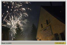 Stod, 1.1.2015. Stod, Ohňostroj v 17:00.  Foto Pavel Dolejš.
