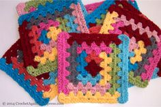 Free pattern photo tutorial for the Log Cabin Granny from Sue Rivers of Crochet Again