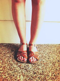 Saltwater sandals.  Classic.  Wear them in the water--still look great!  I will take a pair in every color.
