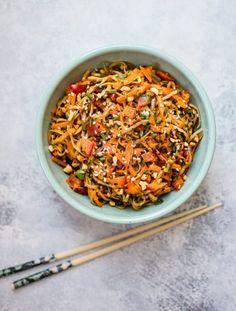 Spicy peanut soba noodle salad recipe Follow for recipesGet your  Mein Blog: Alles rund um Genuss & Geschmack  Kochen Backen Braten Vorspeisen Mains & Desserts!