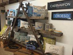 Adra Cymru, Shop Window Displays, Ladder Bookcase, Welsh, Forget, Shops, Cushions, Windows, Space