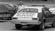 The Ford Pinto arrives on this date in Roadside safety flares were rendered obsolete as these cars could explode if hit from behind. Ford Pinto, Famous Court Cases, Ronald Wayne, Plymouth Cars, Iconic Photos, Rear Ended, Automobile Industry, Custom Vans, Catching Fire
