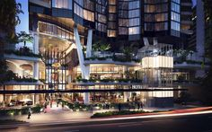 Mary Lane Provides a Contemporary, Sleek and Queensland Lifestyle to Residential Design in Brisbane Retail Architecture, Green Architecture, Concept Architecture, Futuristic Architecture, Architecture Design, Condominium Architecture, Shopping Mall Architecture, Public Space Design, Mix Use Building
