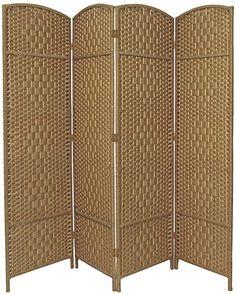 4 Panel Entwine Handmade Natural Coloured Room Divider / Splitter Screen