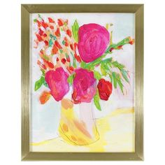 "Floral Framed Wall Art 13x10""- Oh Joy!"