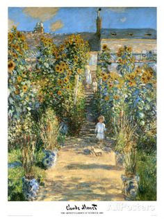 Garden at Vetheuil, 1881 Prints by Claude Monet at AllPosters.com
