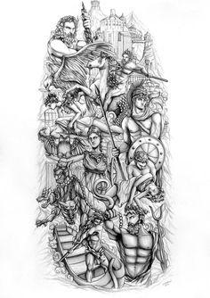 Resultado de imagen de bocetos de estatuas de dioses olimpo