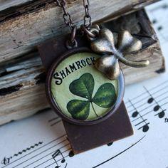 Shamrock St Patrick's Day inspired necklace