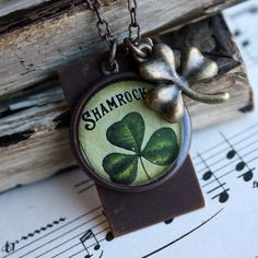 Shamrock St Patrick's Day inspired necklace
