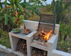 Incredible Backyard Bbq Area Design Ideas, When it has to do with outdoor design there are several styles to select from. Every time a new outdoor design will be implemented in your property's . Design Grill, Patio Design, Barbecue Design, Backyard Patio, Backyard Landscaping, Patio Stone, Flagstone Patio, Concrete Patio, Patio Table