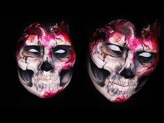 Evil Skull Heart Makeup Tutorial - YouTube