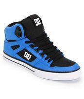 DC Spartan Hi WC TX Royal & Black Canvas Skate Shoe