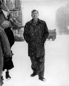 W.H. Auden photographed by Richard Avedon, 1960.