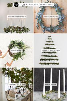 DIY: Simple green Christmas decor   My Paradissi