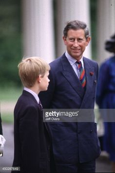 Charles Prince Talks to Son Harry.