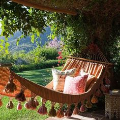 Outdoor life.. Very bohemian chic. maybe a quilted one? more cushion