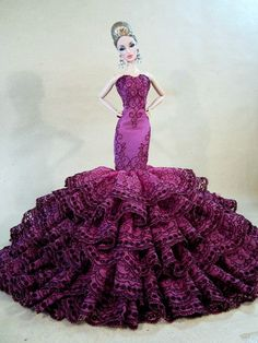 Eaki Evening Bride Dress Outfit Gown Silkstone Barbie Fashion Royalty Candi Lace | eBay