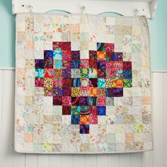 Another heart mini quilt